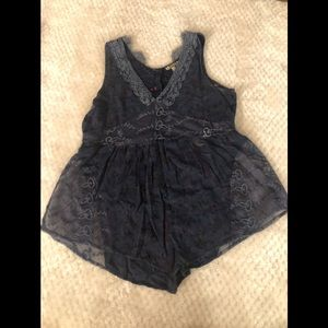 Gimmicks by bke lace empire style tank